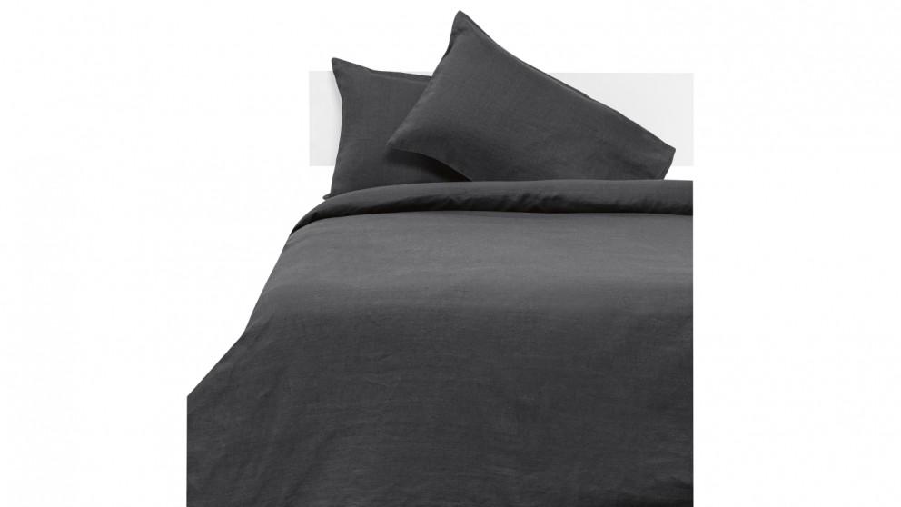 Linen House Nimes Quilt Cover Set - Magnet