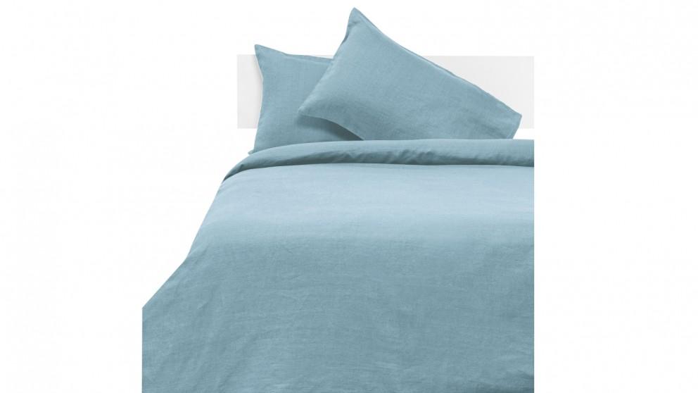 Linen House Nimes Quilt Cover Set - Blue