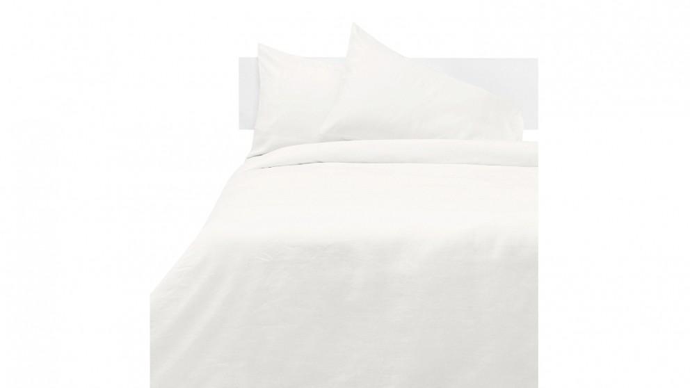 Linen House Nimes Quilt Cover Set - White