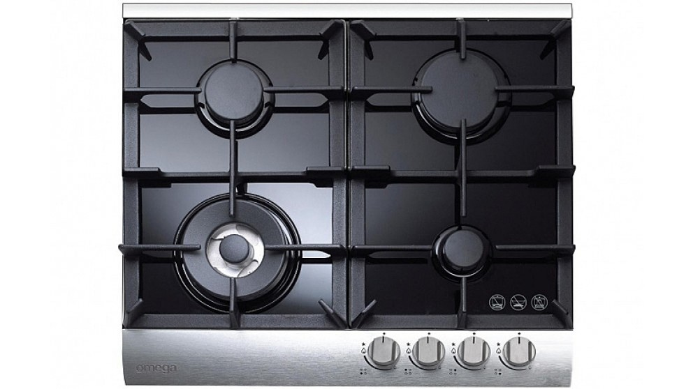 Omega 60 cm Gas Cooktop - Stainless Steel