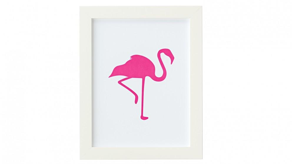 Flamingo Print Small - Hot Pink