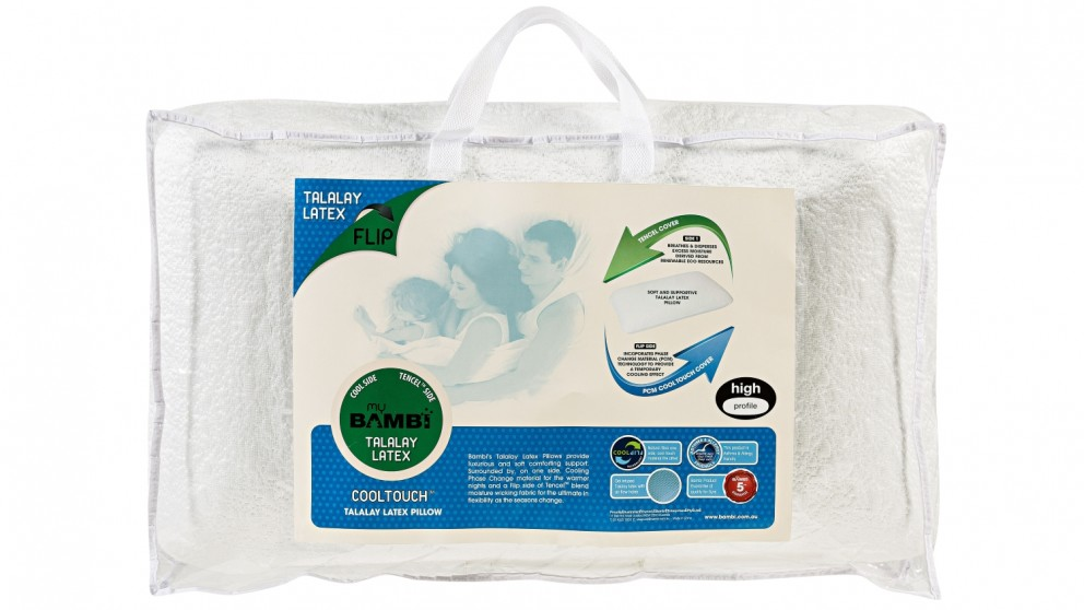 Cooltouch Flip Latex Gel Infused High Profile Standard Pillow