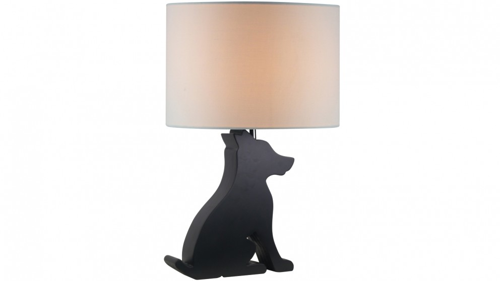 Coco Puppy Table Lamp - Black