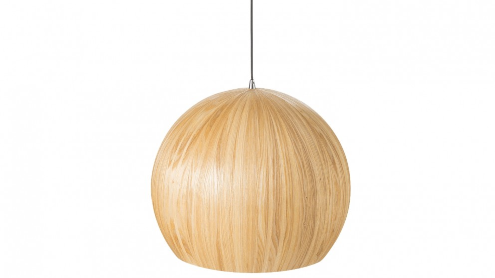 Nordic Large Dome Pendant Light - Natural