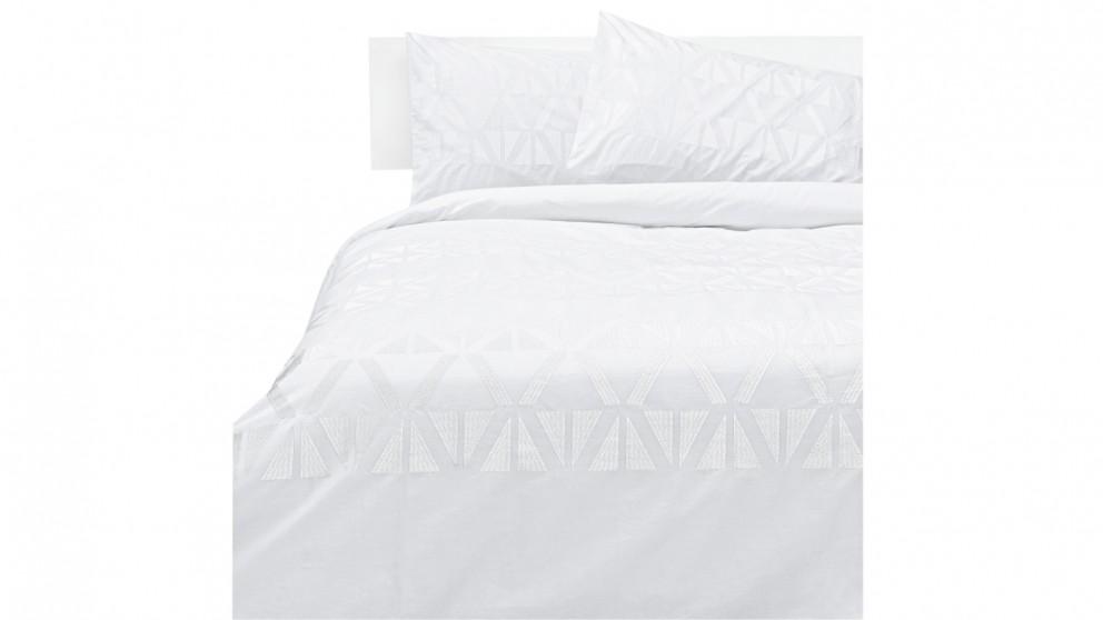 Kas Zuma Quilt Cover Set - White