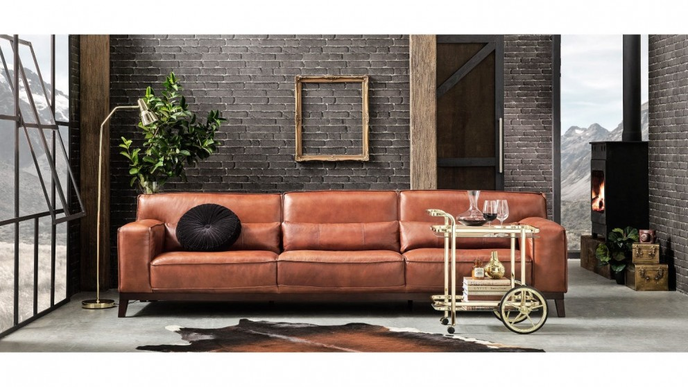 Buy Reno Leather Lounge | Domayne AU