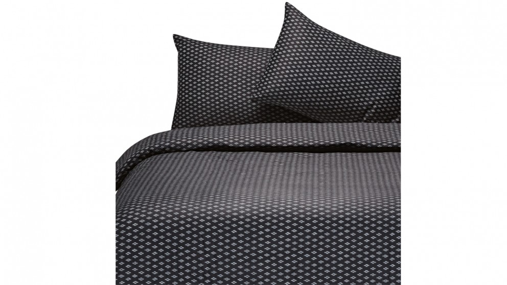 Crosier Quilt Cover Set - Black