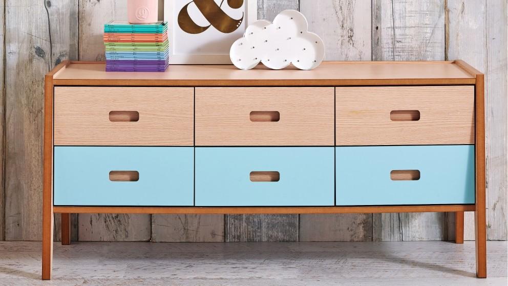 Sleigh 6 Drawer Dresser
