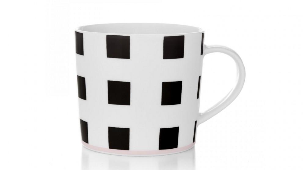 Aura Squares Coffee Mug - Black/White