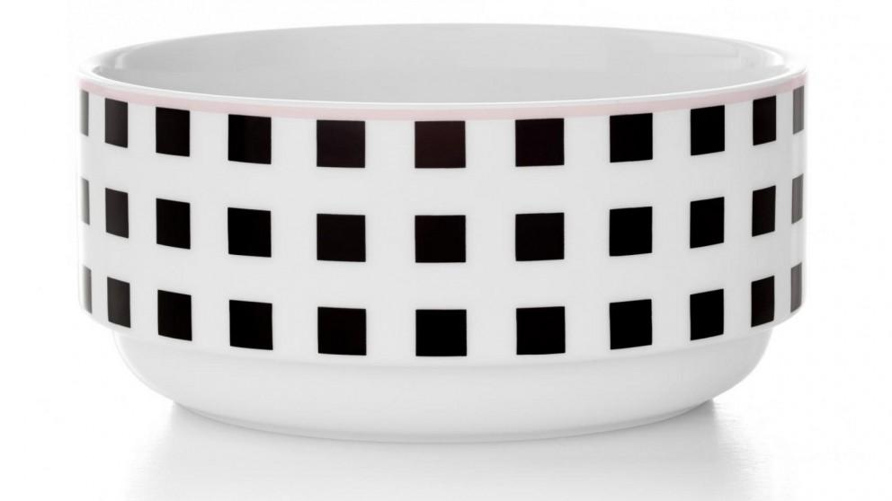 Aura Squares Stacking Bowl - Black/White