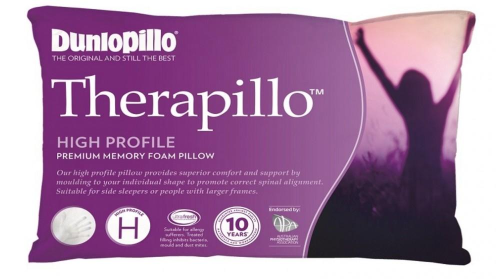 Dunlopillo Therapillo Premium Memory Foam High Profile Pillow