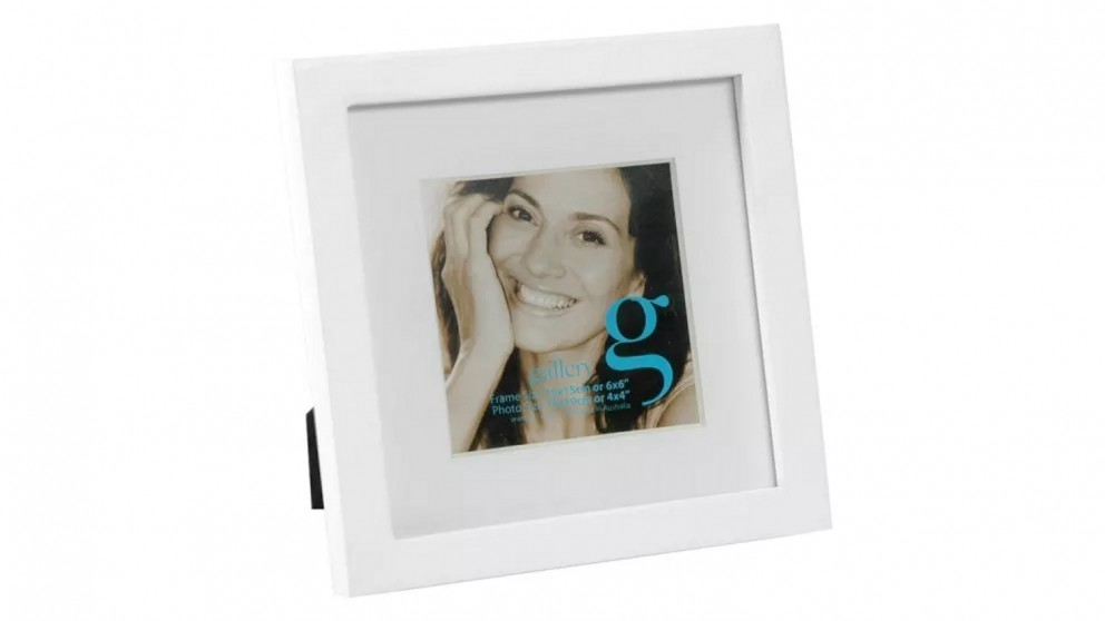 "UR1 Gallery 6""x6"" Photo Frame with 4""x4"" Opening - White"
