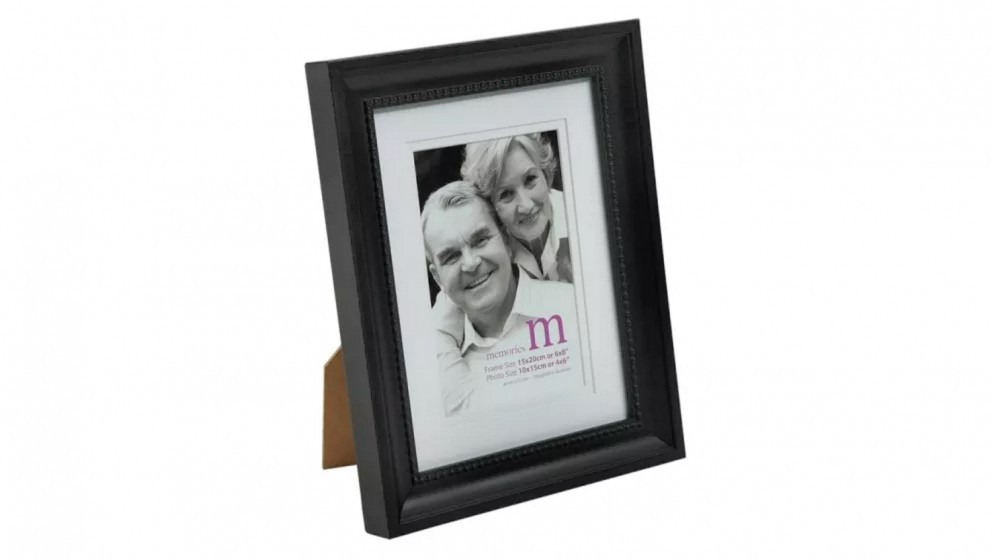 """UR1 Memories 6""""x8"""" Photo Frame with 4""""x6"""" Opening - Black"""
