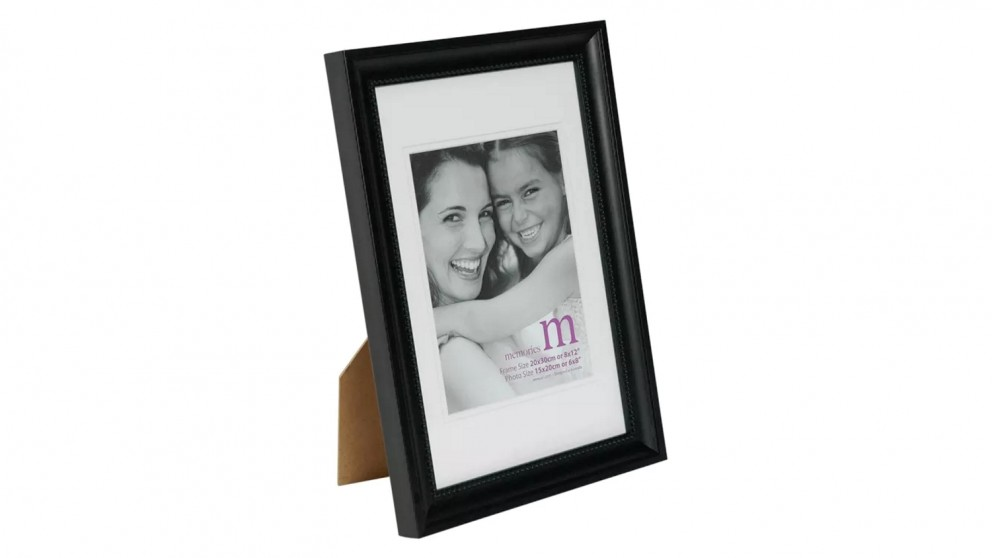 """UR1 Memories Photo Frame 8""""x12"""" with 6""""x8"""" Opening - Black"""