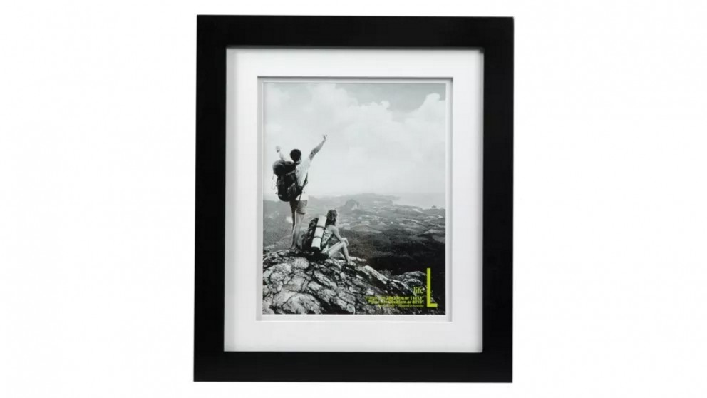"""UR1 Life 11""""x13"""" Photo Frame with 8""""x10"""" Opening - Black"""