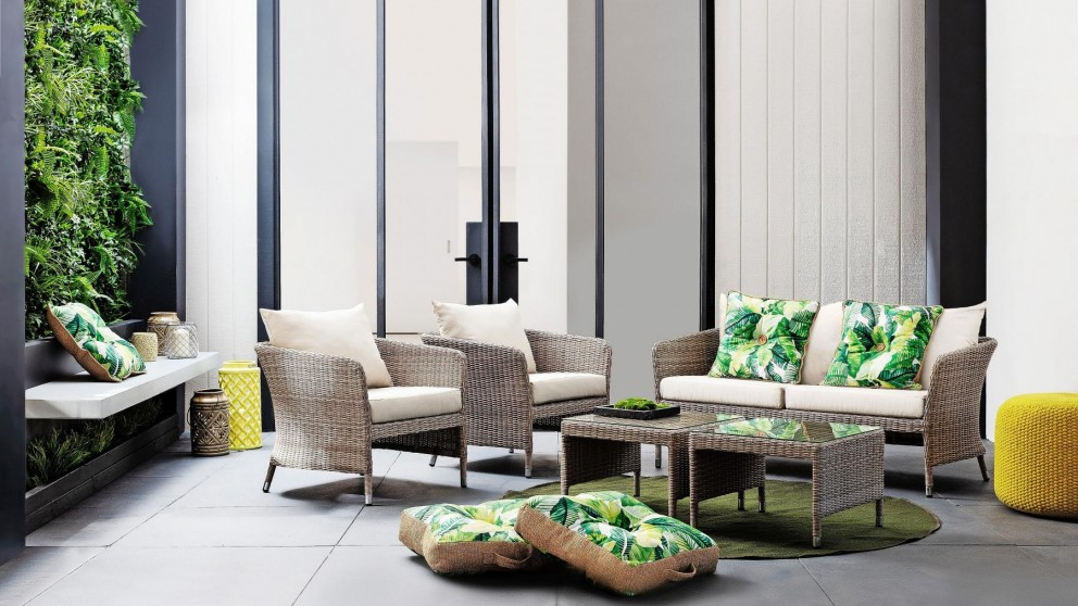 Melville 5-Piece Outdoor Lounge Setting - Natural