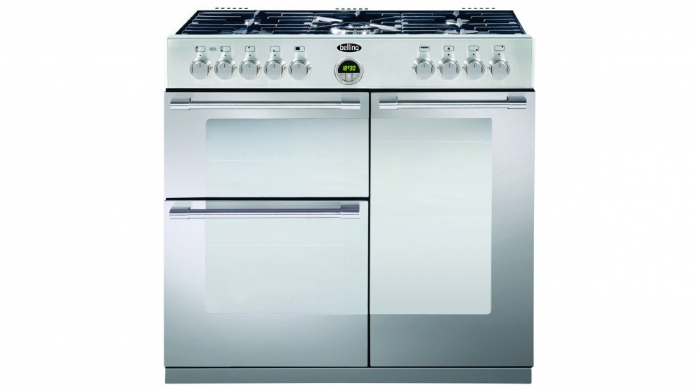 Belling 900mm Sterling Dual Fuel Freestanding Cooker - Stainless Steel