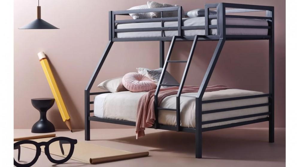 Quad Trio Bunk Bed Charcoal