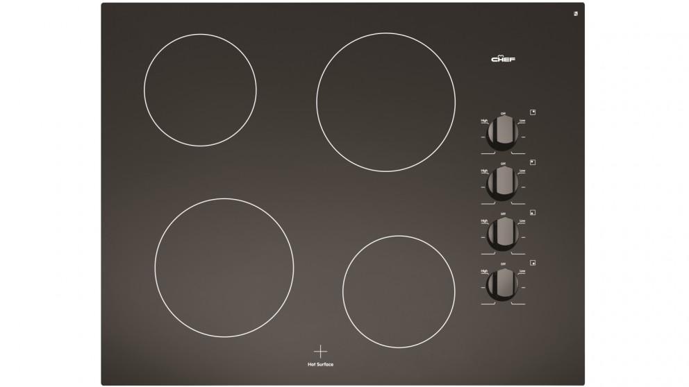 Chef 60cm 4 Zone Trimless Ceramic Cooktop