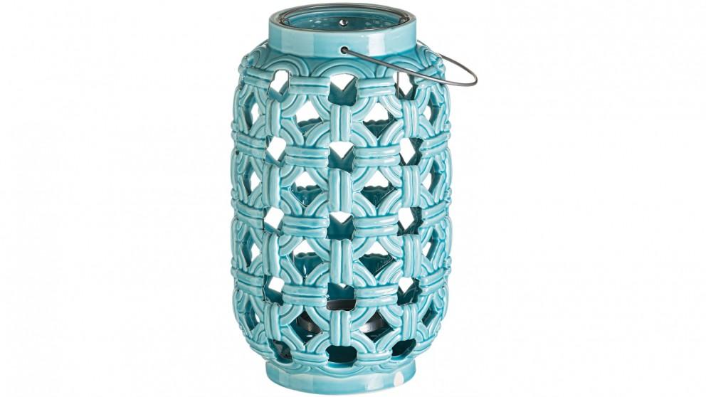 Merino Ceramic Large Lantern - Teal