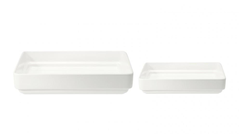Mila Rectangular Plate - White