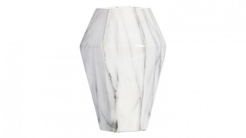 Venice Marble Look Tall Vase