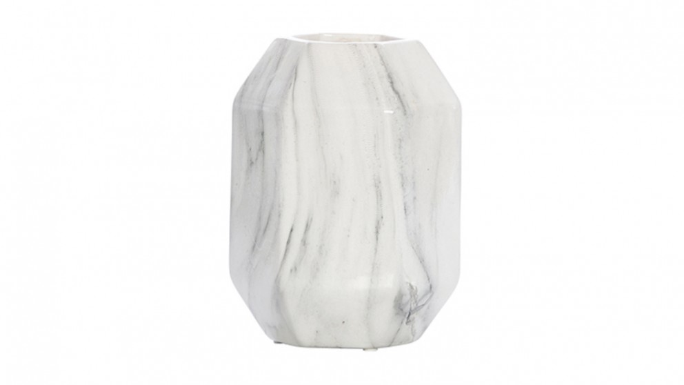 Venice Marble Look Wide Vase