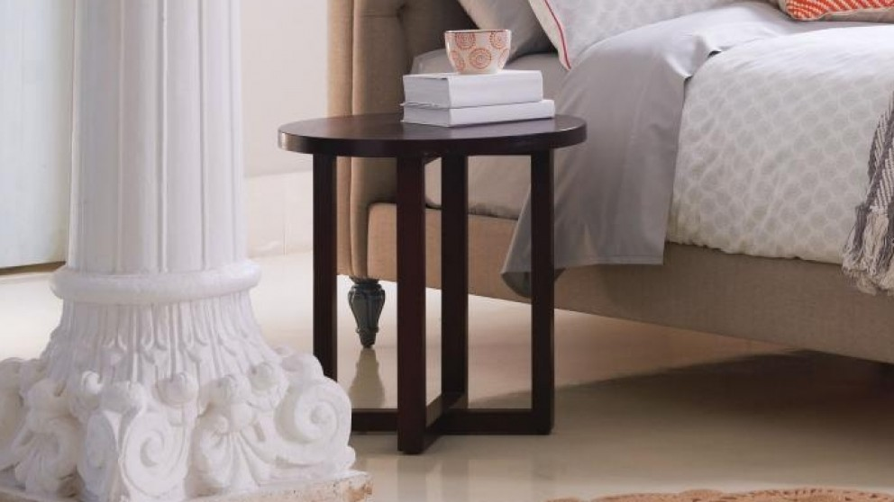 Criss Cross Round Bedside Table