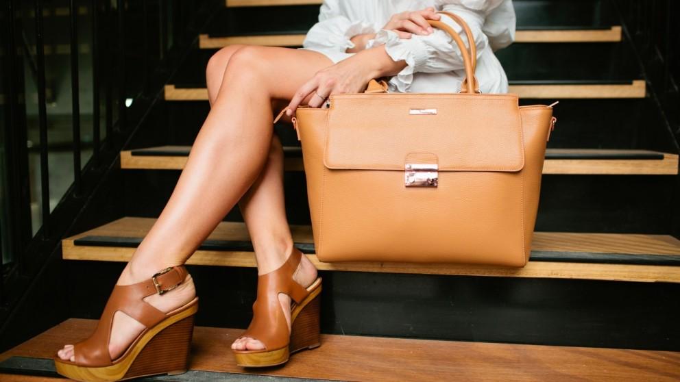Code Republic Danielle Luxe Tech Handbag - Tan
