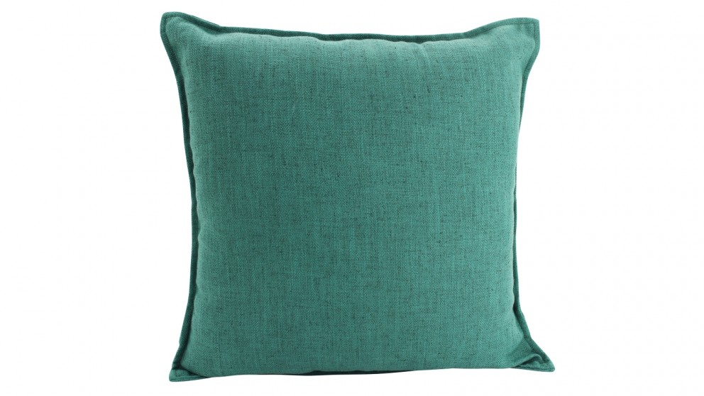 Basic Linen Square Cushion - Green