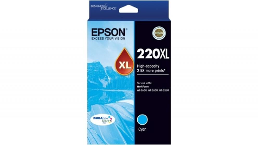 Epson 220XL DURABrite Ultra High Capacity Ink Cartridge - Cyan