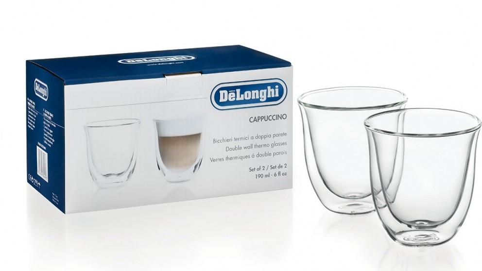 DeLonghi Set of 2 Cappiccino Glasses