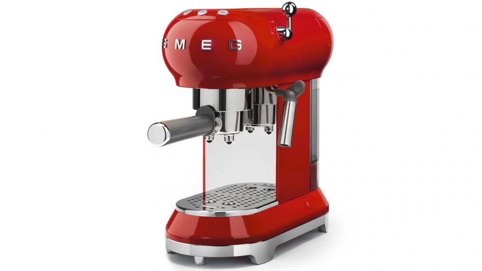 Smeg 50's Retro Style Espresso Coffee Machine - Red