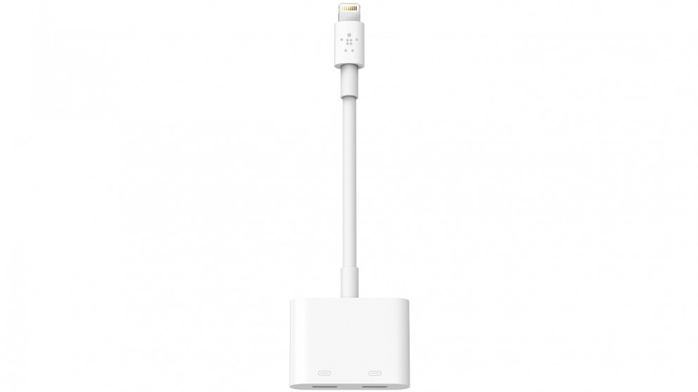 Belkin Lightning Audio and Charge Rockstar Adapter - White