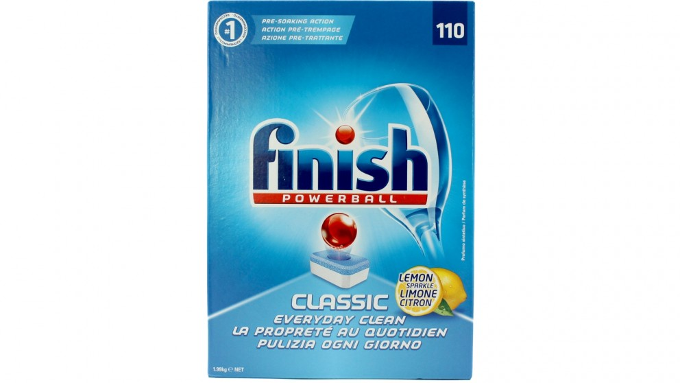 Finish Powerball Classic 110 Pack Lemon Sparkle Dishwashing Tablet