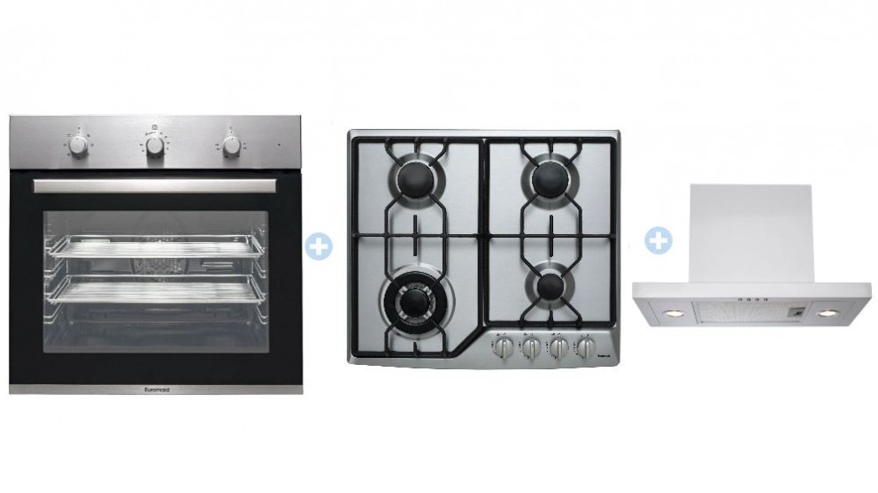 Euromaid BS7 7 Multifunction Oven with Gas Cooktop and Integrated Rangehood Package