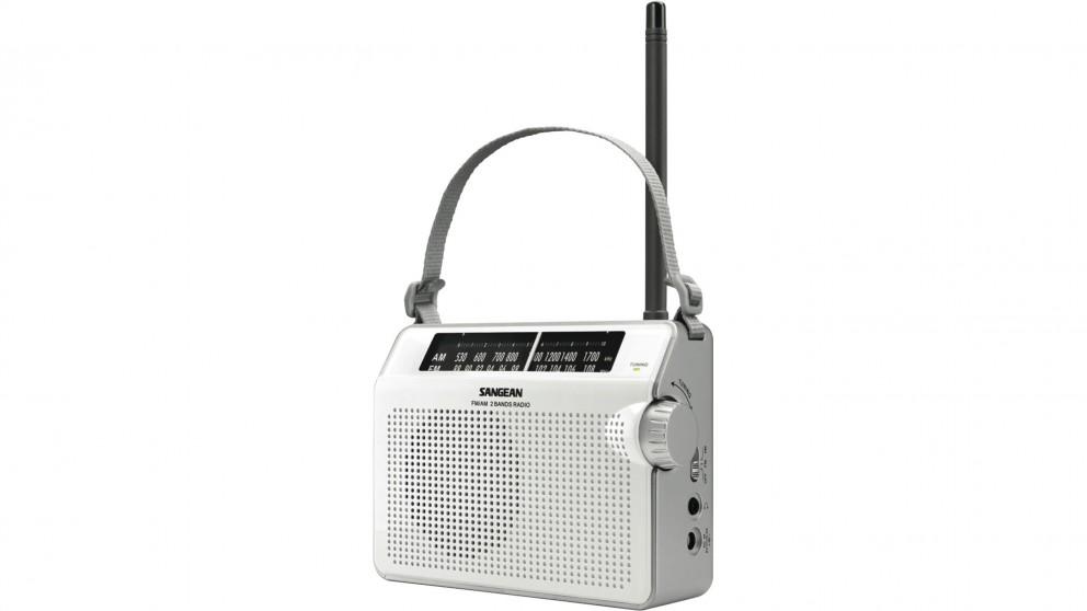 Sangean AM/FM Compact Radio - White