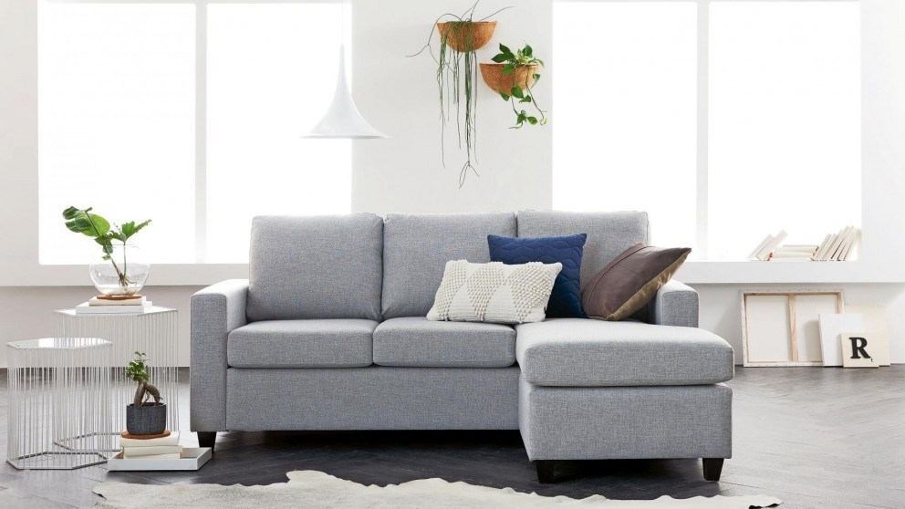 Buy Newport 3 Seater Sofa Bed with Reversible Chaise and 4 ...