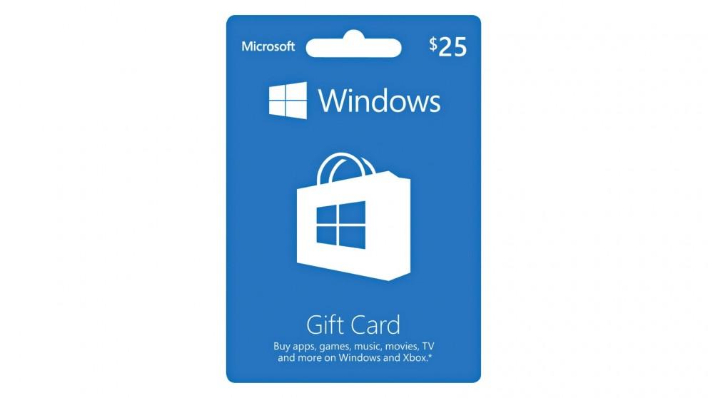 Microsoft Windows $25 POSA Card