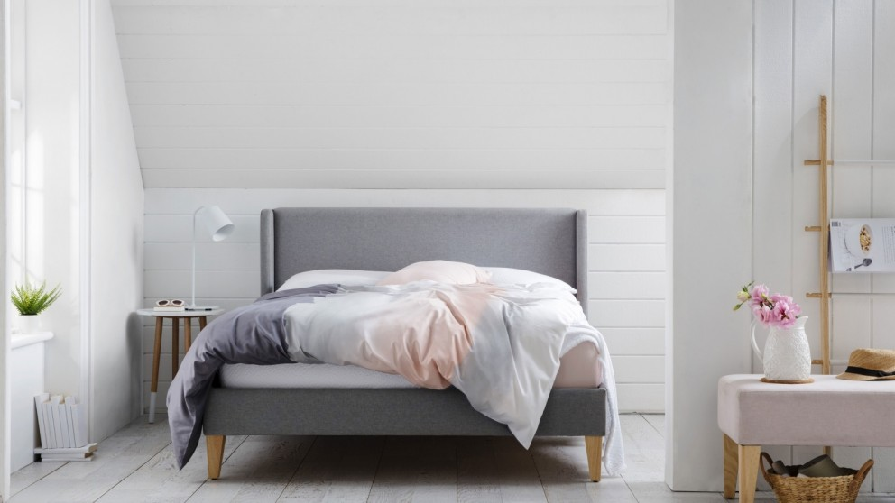 Fabulous Buy Harlow Bed Frame Domayne Au Onthecornerstone Fun Painted Chair Ideas Images Onthecornerstoneorg