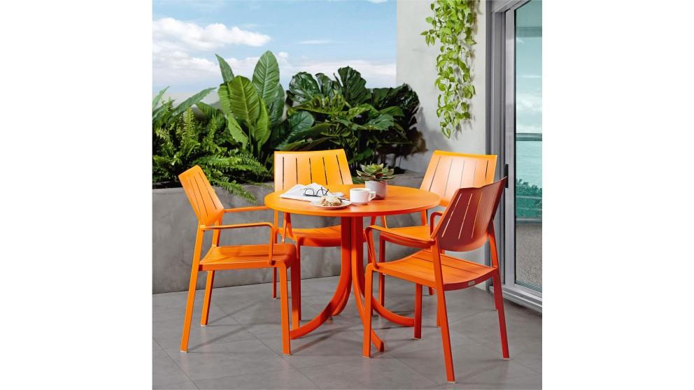 Stax Aluminium Carver Dining Chair - Orange