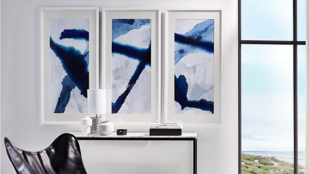 Robert Mark Ink Glass Framed - White Frame