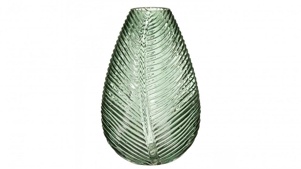 Tropical Leaf Large Vase - Green