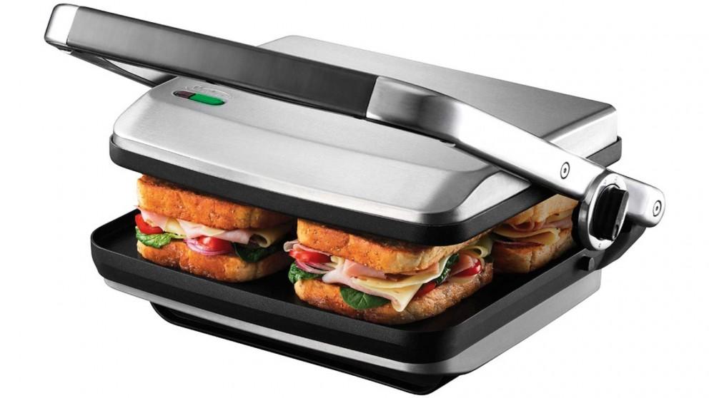 Sunbeam Cafe Press Brushed 4 Slice Sandwich Maker & Presses