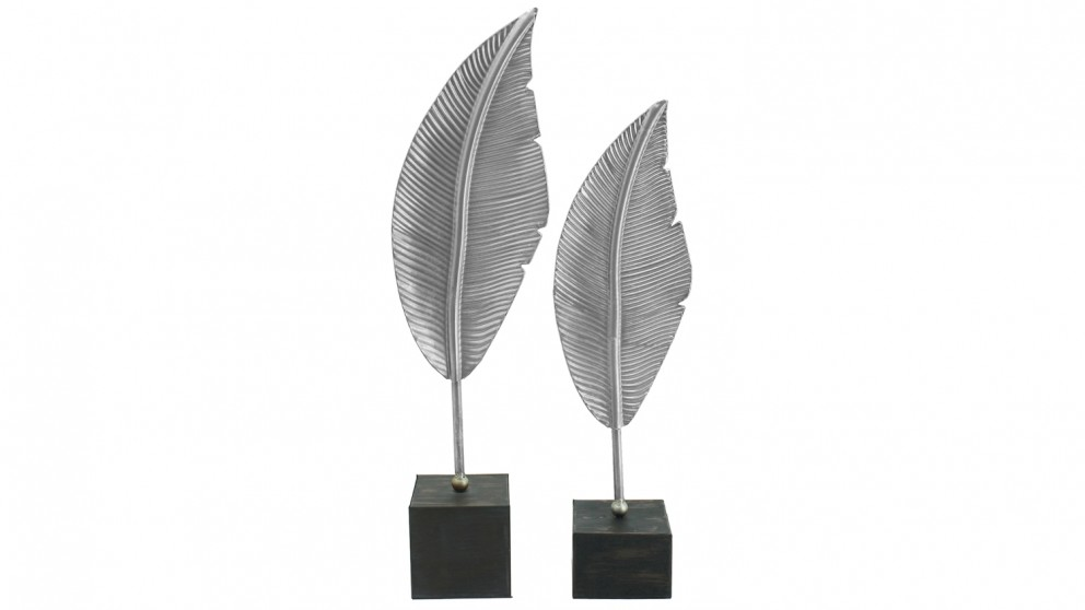 Stark Leaves on Stand Set of 2 Sculptures