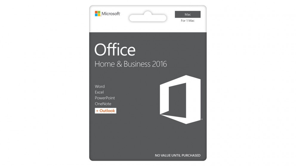 Microsoft Office Mac Home and Business 2016