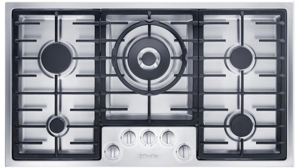 Miele 900mm 5 Burner Low Profile Natural Gas Cooktop - Stainless Steel