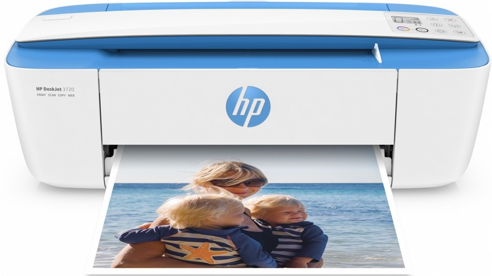HP DeskJet 3720 All-In-One Printer - Electric Blue