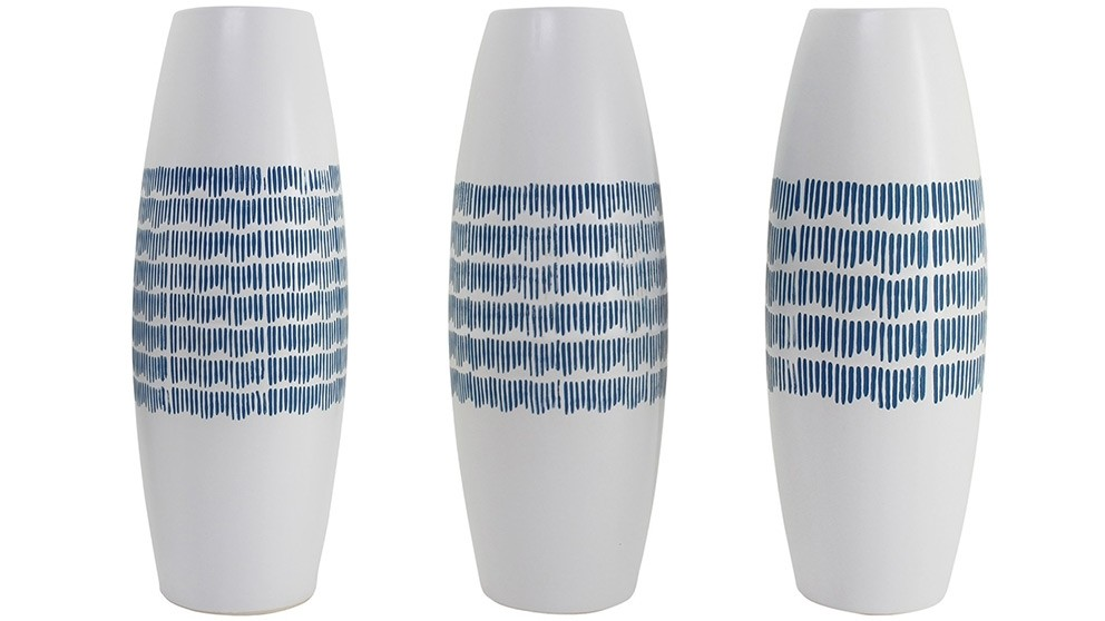 Jojo Tall Vase - Blue