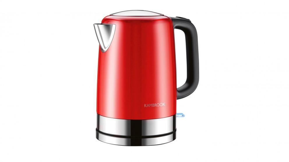 Buy Kambrook 1.7L BPA Free Stainless Steel Kettle - Red   Domayne AU